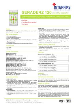 SERADERZ 120 - İnterfiks Yapı Kimyasalları