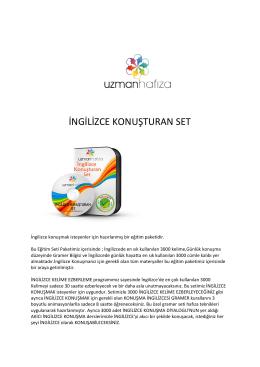 Set İçeriği - Uzmanhafiza.com.tr