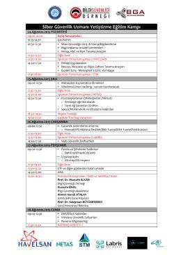 Kamp programı