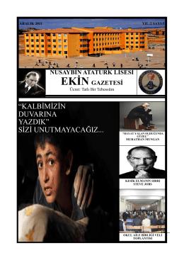 Ekin-5 - NUSAYBİN - Atatürk Mesleki ve Teknik Anadolu Lisesi