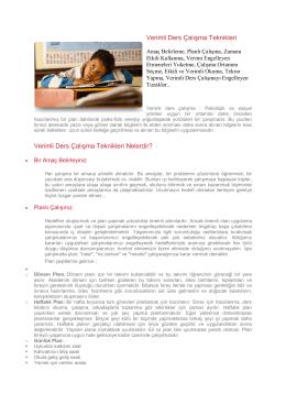 Verimli Ders Çalışma - Yunus Emre İlkokulu