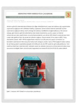 Arduino Wi-Fi Shield İle Çalışmak