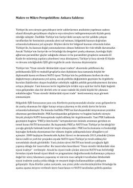 Makro ve Mikro Perspeftiften Ankara Saldırısı