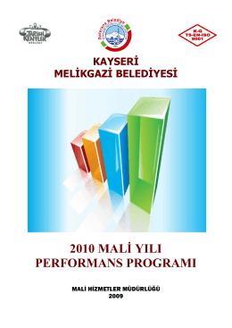 2010-performans programı