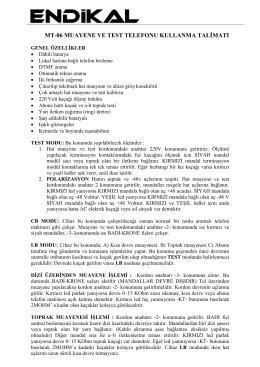 TEST ve MUAYENE TELEFONU - MT06