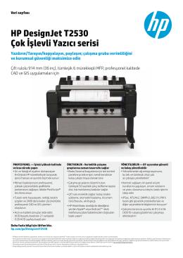 HP DesignJet T2530 Çok İşlevli Yazıcı serisi