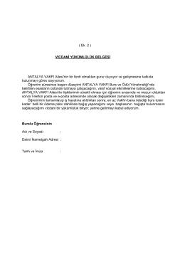 Vicdani Yükümlülük Belgesi (PDF Dosyası)