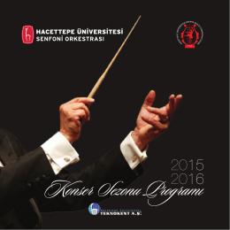 Yıllık Program - Hacettepe Üniversitesi Ankara Devlet Konservatuvarı