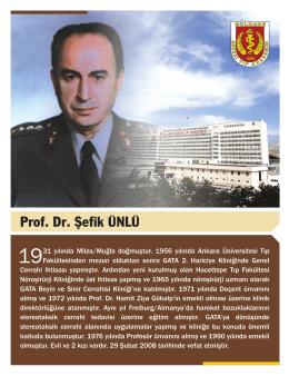 Prof. Dr. Şefik ÜNLÜ