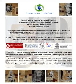 """İstanbul """"Dimitrie Cantemir"""" Romen Kültür Merkezi Avrupa ve Kuzey"""