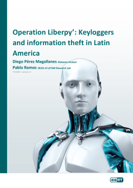 Operation Liberpy`: Keyloggers and information theft in Latin America