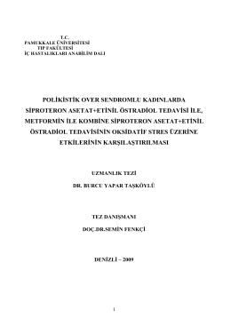 polikistik over sendromlu kadınlarda siproteron asetat+etinil