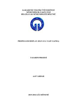 Rapor - Karadeniz Teknik Üniversitesi