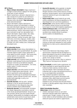 BİLİŞİM TEKNOLOJİLERİ DERS NOTLARI 5.SINIF