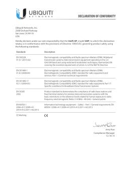 UAP DoC - Ubiquiti Networks