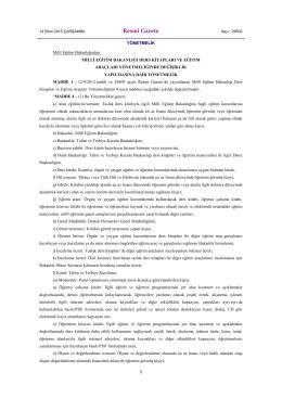 Millî Eğitim Bakanlığı Ders Kitapları ve Eğitim Araçları