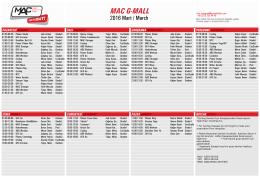 MAC G-Mall ders programı