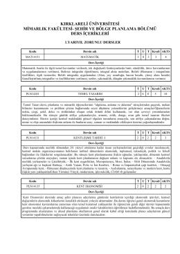Ders İçerikleri - Mimarlık Fakültesi