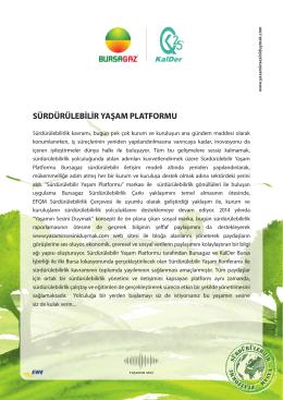 sürdürülebilir yaşam platformu - Kurumsal Sosyal Sorumluluk Derneği