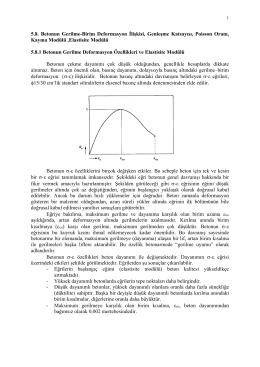 5.8. Betonun Gerilme-Birim Deformasyon İlişkisi, Genleşme