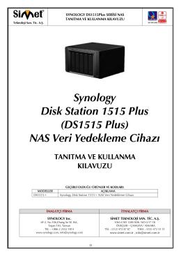 Synology DS1515+ Kullanım Kılavuzu