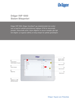 Ürün bilgisi: Dräger VVP 1000