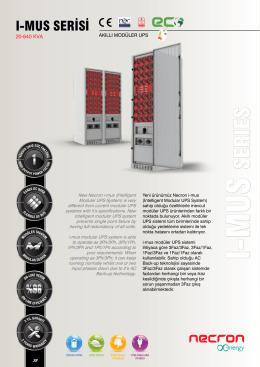 serıes - Modüler UPS