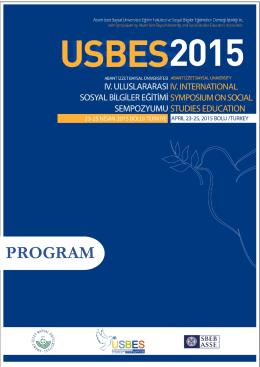 PROGRAM - USBES 2015 - Uluslararası Sosyal Bilgiler Eğitimi