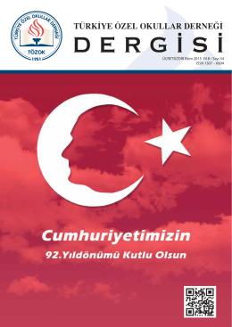 34. sayi - Türkiye Özel Okullar Birliği Derneği