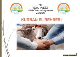 kurban el rehberi - Niğde İl Gıda Tarım ve Hayvancılık Müdürlüğü