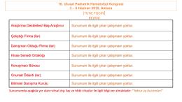 KEMİK İLİĞİ NAKLİ GEÇ ETKİLER - Türk Pediatrik Hematoloji Derneği