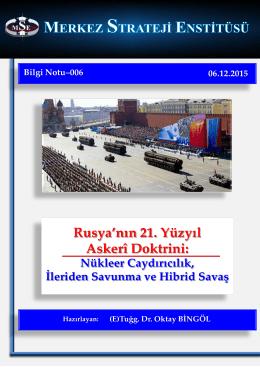 Rusya`nın 21. Yüzyıl Askerî Doktrini