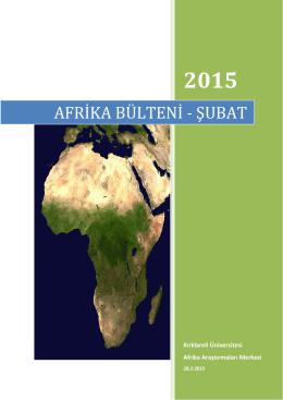 afrika bülteni - şubat - Afrika Araştırmaları Uygulama ve Araştırma