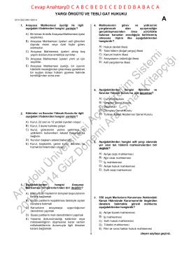 Anadolu Üniversitesi Açıköğretim Sistemi 2013