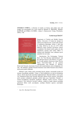OTTOMAN CYPRUS, a collection of studies on history