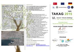 Program - Takag2015 - Dokuz Eylül Üniversitesi