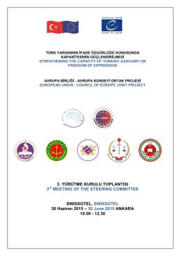 Agenda - Türk Yargısının İfade Özgürlüğü Konusunda Kapasitesinin