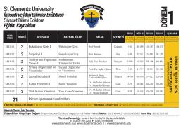3 - St.Clements University Başvuru Formu