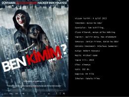 Vizyon Tarihi: 4 Eylül 2015 Yönetmen: Baran bo Odar Oyuncular