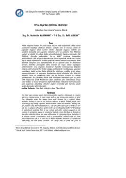 Orta Asya`dan Bilecik`e Hıdırellez - Türk Dünyası İncelemeleri Dergisi