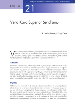 Bölüm 21 - Vena Kava Superior Sendromu