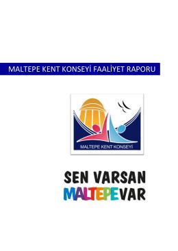 MALTEPE KENT KONSEYİ FAALİYET RAPORU