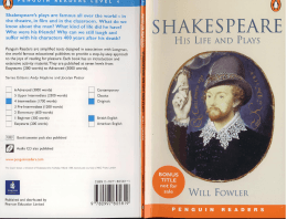Page 1 Shakespeare`s plays are famous all over the world