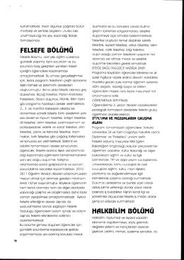felsefe bölümü halkbilim bölümü - Ankara Üniversitesi Dil ve Tarih