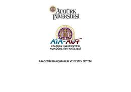 akademik danışmanlık ve destek sistemi