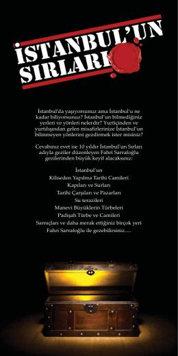 İstanbul`un Sırları - Fahri Sarrafoğlu Kişisel Sayfası