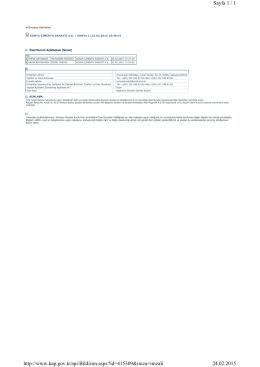 Sayfa 1 / 1 24.02.2015 http://www.kap.gov.tr/api/Bildirim.aspx?id