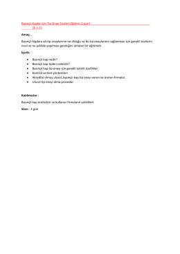 Basınçlı Kaplar için Tip Onay Testleri Eğitimi (1 gün) 3E-L