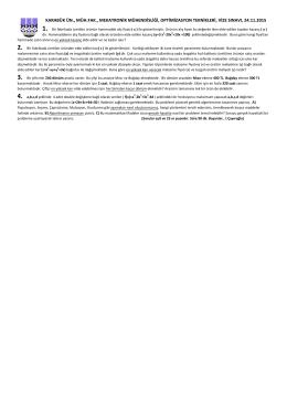Optimizasyon_Teknikleri_VizeSinavi_24.11.2015