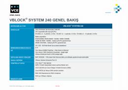 Vblock 240 Genel Bakış